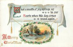 A MERRY CHRISTMAS  WHAT A WEALTH OF JOY SPRINGS UP IN OUR HEARTS WHEN THIS DAY COMES ROUND AGAIN