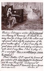 "inset above lengthy advert. MADAME TETRAZZINI WRITES: THE ""AUTOPIANO""..."
