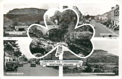 5 insets BENEVENAGH MOUNTAINS AND RIVER ROE/CATHERINE STREET/DOG'S LEAP/LOWER MAIN STREET/KEADY MOUNTAINS FROM COLERAINE ROAD