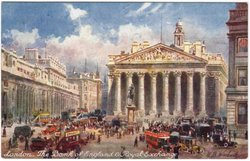 LONDON. THE BANK OF ENGLAND & ROYAL EXCHANGE