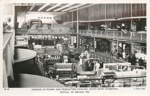 INTERIOR OF POWER AND PRODUCTION PAVILION BUILDING, SOUTH BANK EXHIBITION