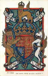 THE ROYAL ARMS OF KING GEORGE V