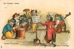 MERRY MUSICIANS, cats