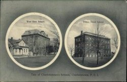 SCHOOLS OF CHARLOTTETOWN, 2 insets WEST KENT SCHOOL//PRINCE STREET SCHOOL