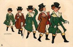 five children wearing top hats